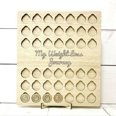 Weight Loss Journey Board, £ for lb rewards, All Oak,  Personalised Option