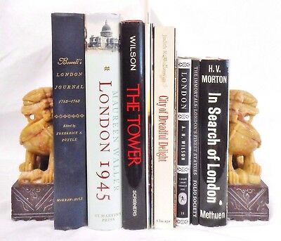 History of LONDON Tower Boswell's Journal Victorian Sculptures 10 books lot