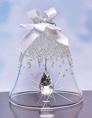 Swarovski Christmas Bell Ornament First Annual Edition 2015 New In Box!