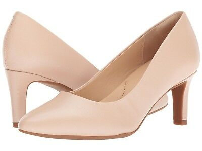 77d6197a8053 Women s Shoes Clarks Calla Rose Leather Closed Toe Pump 31856 Cream  New