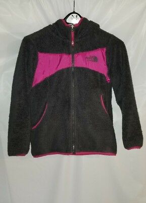 THE NORTH FACE REVERSIBLE GRAY AND PINK (SIZE M 10/12) FLEECE  Jacket  GIRL'S