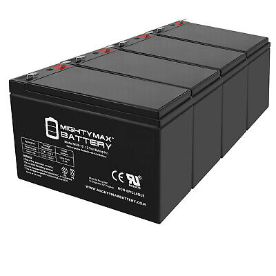 10 Pack New 12V 7AH Battery Replacement for Panasonic LC-R129CH1 UP-RW1228ST1