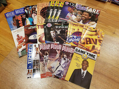Lot of 20 NBA Publications (Yearbooks, Media Guides, Game Programs, etc)