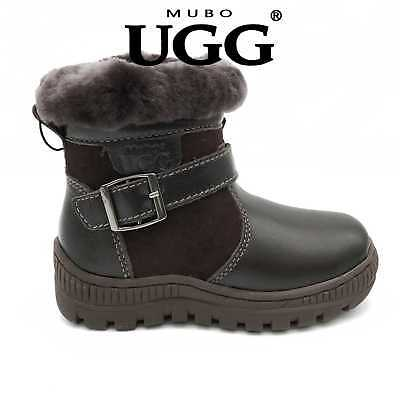 SW1507 Mubo UGG Kids Boots TPR Sole Black Colour Size 28~32