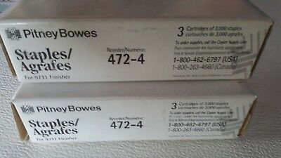Pitney Bowes Staples 472-4 , 3 cartridges of 3000 staples per box. 2 boxes incl.