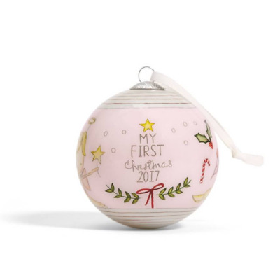 Mamas and Papas My 1st Christmas Bauble 2017 PINK First Xmas