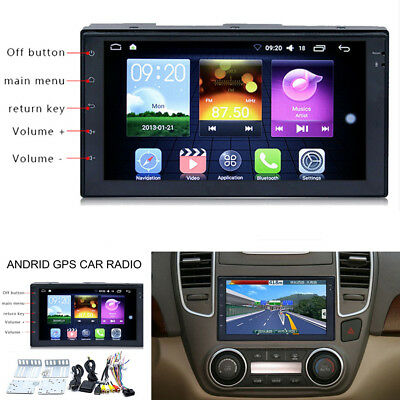 "7"" Touch Screen 2 Din Car MP3 MP5 Player GPS Navigation WIFI Android Bluetooth"