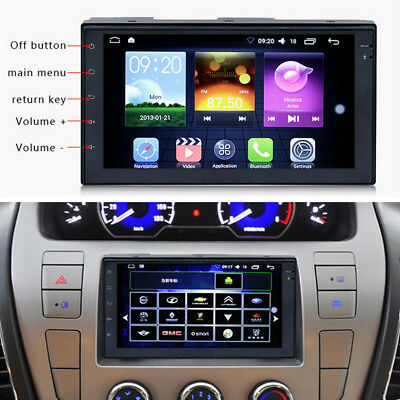 "7"" Touch Screen 2 DIN 16G Car Stereo MP3 MP5 Player GPS Android WIFI Bluetooth"