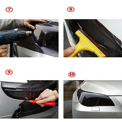 Taillight Film Black 30*60cm Tint Fog Light Vinyl Smoke Sheet Headlight Bright