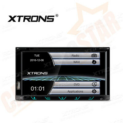 XTRONS Double 2 DIN Car Head Unit DVD Player Stereo GPS Sat Nav Bluetooth USB SD