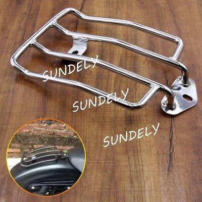 For Harley-Davidson Sportster XL883 1200 2004-2015 Solo Seat Luggage Rack Chrome