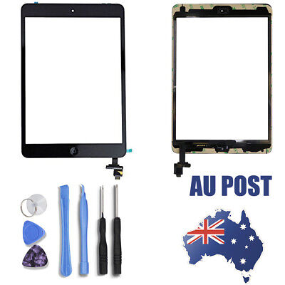 Touch Screen Glass Digitizer Replacement+IC chip+Home For iPad AU post