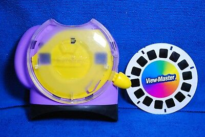 View-Master Model O Binocular Style Viewer - Light Puple & Yellow with Demo Reel