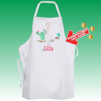 Personalised Llama Cactus Fun Baking Cooking Apron Ideal Birthday Gift DE2