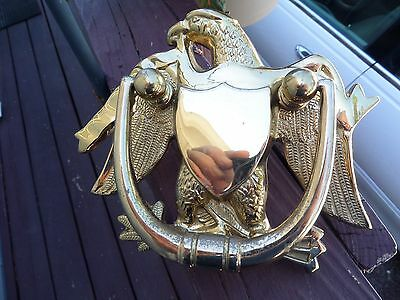 "Vintage, N.o.s. Federal American Eagle Solid Brass Door Knocker, Appx. 7"" X  6"""