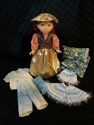 """Lot of 11 Doll Clothes Fits 18"""" American Girl Doll Pajamas, Dress, Cape, Hat"""