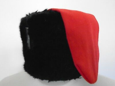 Royal Horse Artilery Fur Busby With Red Bag Size: 56Cm Genuine British Army Issu