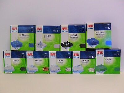 JUWEL AQUARIUM STANDARD 'L' FILTER FOAMS & MEDIA. Poly Pad, Fine, Coarse, Cirax