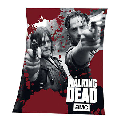 The Walking Dead Fleecedecke, 130x160cm (NEU)