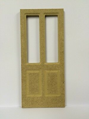 MDF Door With Two Apertures, Doll House Miniature Fixture & Fittings