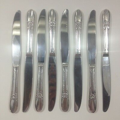 Wm Rogers Silverplate Flatware Knives Beloved Pattern Silverware IS Lot of 8