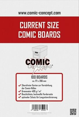 Comic Concept Comic Boards Current Size (100 Stück) Neu & OVP