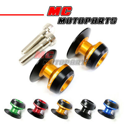 CNC Twall Rear Swingarm Spools Pair For Z750R ZZR600 ZRX1200 Ninja 300R Z1000SX