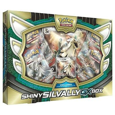 Pokemon: Shiny Silvally GX Collection Box: Inc 4 Booster Packs + Promo Cards