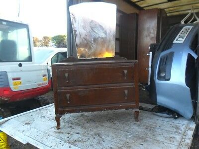 1940s 1950s Side Board Dressing Table With Mirror Shabby Chic Vintage