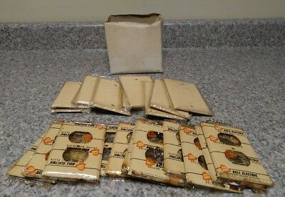 Vtg Lot of NOS Bell Electric Deluxe Wall Plates & Blanks ~ Ivory Textured ~ 24