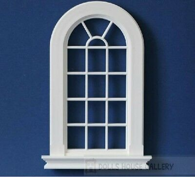 Large Georgian 16 Pane Window Slightly Cream Colour, Dolls House Miniature