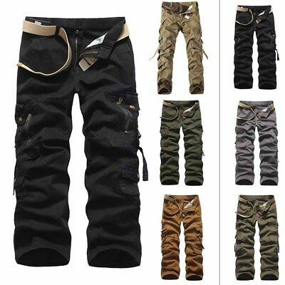Cotton Overalls Multi-pocket Alpha Tactical Pants Men's Baggy Loose Plus Size
