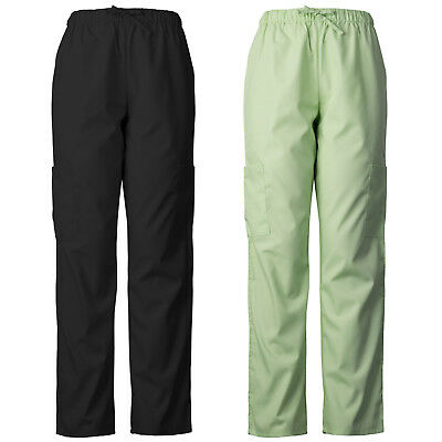 ABSOLUTE Lightweight Scrub Pants with Elastic Waist and Cargo Pockets 2013E