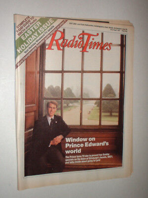 EAST 18/4 1987 RADIO TIMES magazine TELEVISION EASTER PRINCE EDWARD