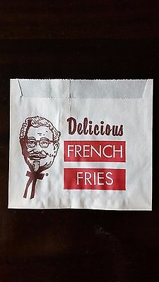 Vintage Original KENTUCKY FRIED CHICKEN FRENCH FRY Paper Snack Bag 1960s NOS