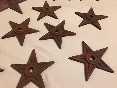 12 Cast Iron Architectural Stress Washer Texas Lone Star Rustic Ranch Stars