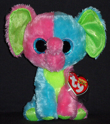TY BEANIE BOOS - ELFIE the ELEPHANT (JUSTICE EXCLUSIVE) - MINT with MINT  TAGS 365b6adb2a52