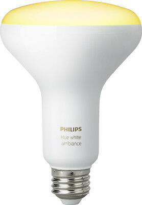 Philips - Hue White Ambiance Dimmable BR30 Wi-Fi Smart LED Floodlight Bulb (2...