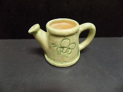 Vintage Miniature Watering Can Toothpick Holder, Bumble/Honey Bee Design-NICE!