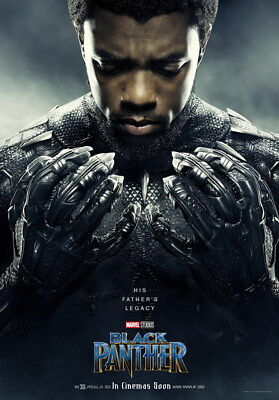 "030 Black Panther 2018 - Chadwick Boseman Marvel Action USA Movie 24""x34"" Poster"