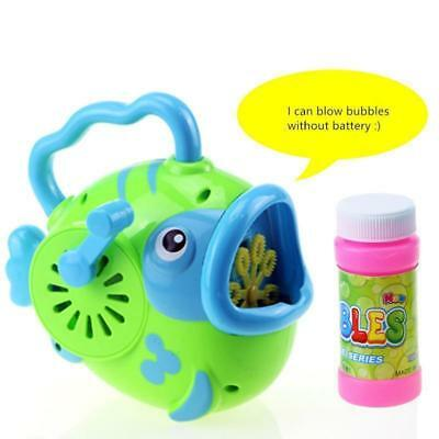 New Creative Bubble Fish Machine Bubble Blower Maker Outdoor Kids Toys FREE SHIP
