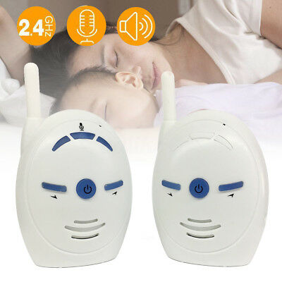 Wireless Digital Two-Way Audio Baby Monitor Voice Sound Cry Alarm Communication