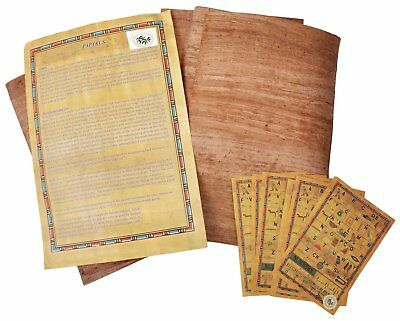 Egyptian Papyrus aged brown blank paper set of 10 Sheets for Art Projects album