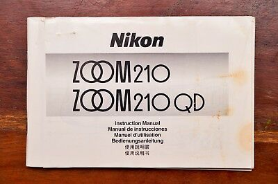 Nikon Zoom 210 QD instruction manual *ENGLISH* good condition