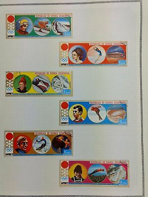 Equatorial Guinea, Sports Album Page Of Stamps #V5861