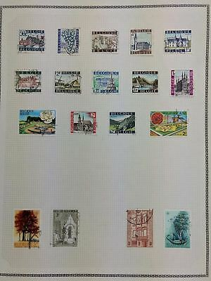 Belgium Album Page Of Stamps #V5794