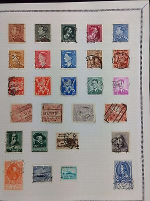 Belgium Album Page Of Stamps #V5783