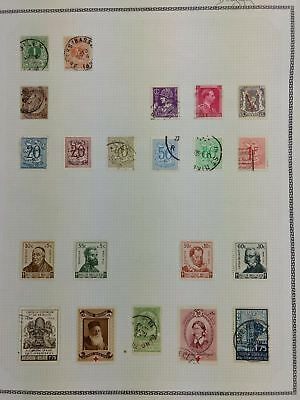 Belgium Album Page Of Stamps #V5796