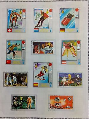 Equatorial Guinea, Winter Olympics, Space Album Page Of Stamps #V5873
