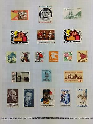USA Mint MH Album Page Of Stamps #V5929